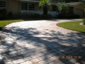 These pavers, view #12, after drying and the application of a satin acrylic sealer the driveway looks brand new!