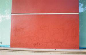 Graffiti cleanup (Before)