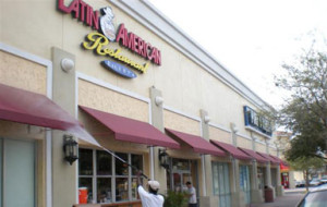 Monthly exterior maintenance, Latin American Cafe