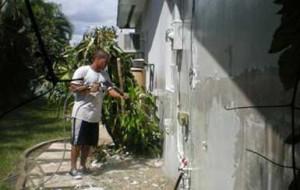 Preparing house exterior for repainting