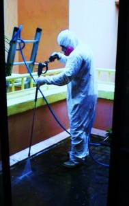safety gear for anti mold spray