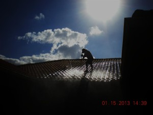 UPC tile roof power wash