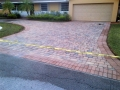 These pavers, view #8, see the difference the acid wash and the  pressure washing has made after the high pressure rinse