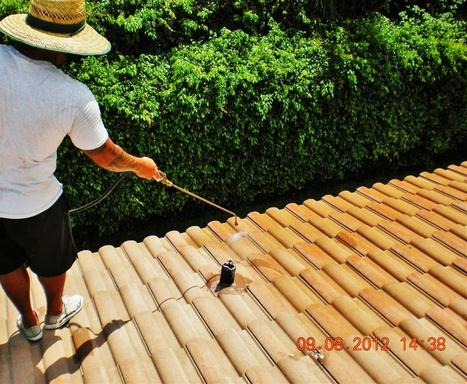 Anti-mold-spray-treatment-view-1-of-these-roof-barrel-tiles-to-prevent-mold