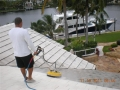 Look at our expert tech using a special surface cleaner to safely clean this very large tile roof.