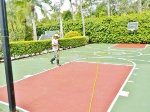 Basketball Court Soft Wash